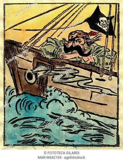 LUSITANIA a causa del suo affondamento Guglielmo II, per la satira inglese, è visto come un pirata: -Sono risorti dal mare i pirati più crudeli