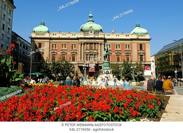 Beograd, city center, square Trg Republike, Serbia-Montenegro, Belgrade