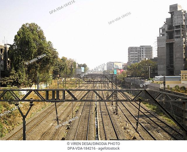 railway tracks at mumbai maharashtra India