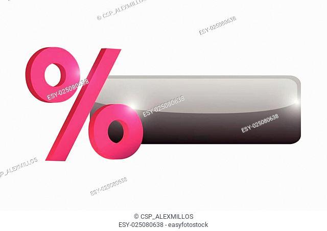percentage button illustration