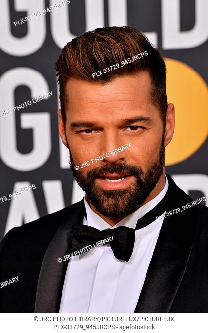 LOS ANGELES, CA. January 06, 2019: Ricky Martin at the 2019 Golden Globe Awards at the Beverly Hilton Hotel. © 2019 JRC Photo Library/PictureLux ALL RIGHTS...
