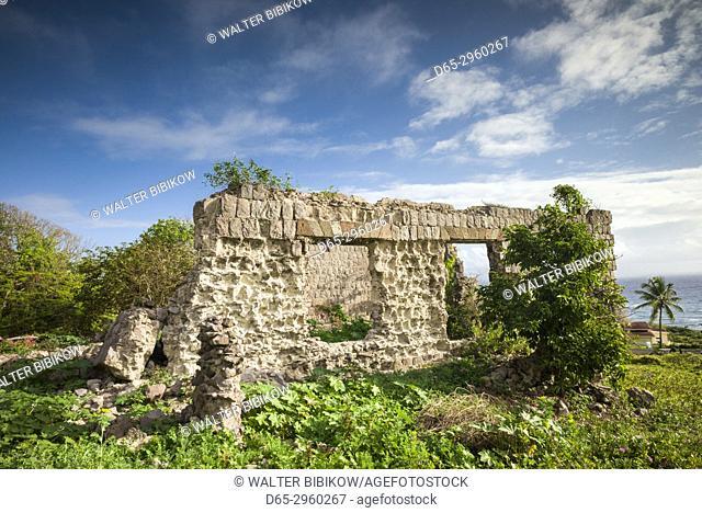St. Kitts and Nevis, Nevis, Eden Brown, ruins of Eden Brown sugar estate