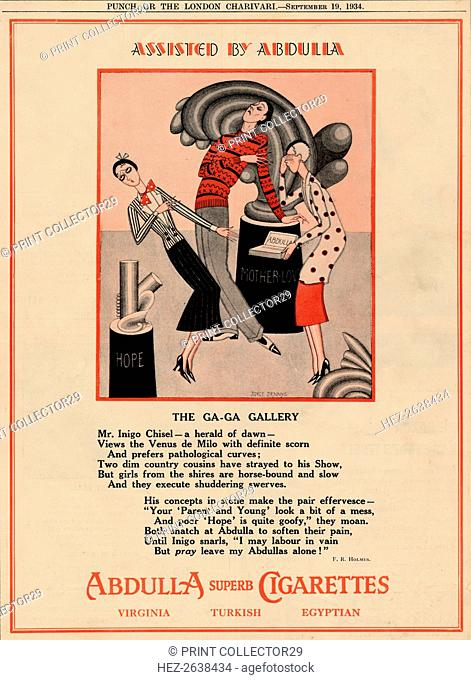 'Assisted by Abdulla - The Ga-Ga Gallery', 1934. Artist: Unknown