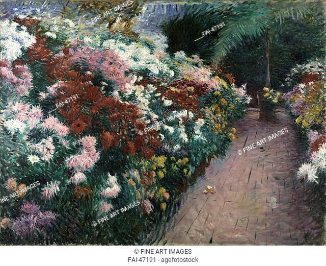Chrysanthemums by Bunker, Dennis Miller (1861-1890)/Oil on canvas/Impressionism/1888/The United States/Isabella Stewart Gardner Museum