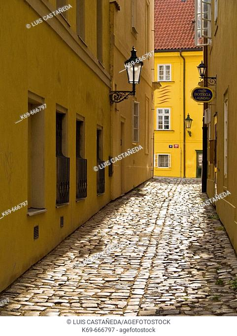 Street in Malá Strana. Prague. Czech Republic