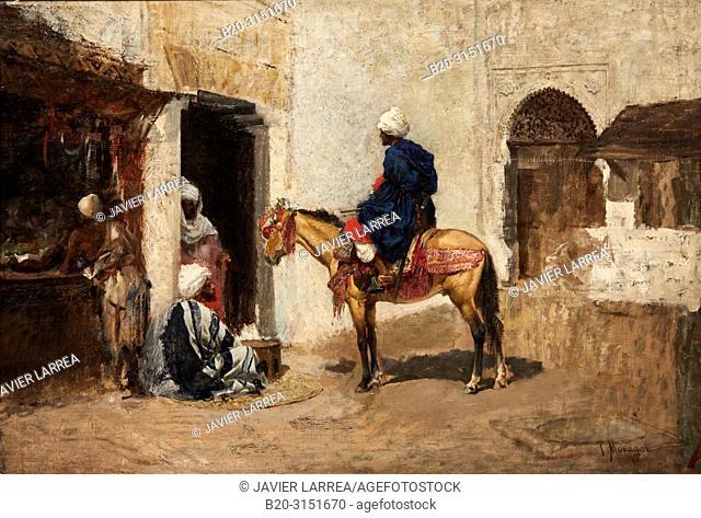 """""""Sketch for Arab Café'"""", c. 1891, Tomás Moragas, National Museum of Catalan Art, Museu Nacional d Art de Catalunya, MNAC, Barcelona, Spain, Europe"