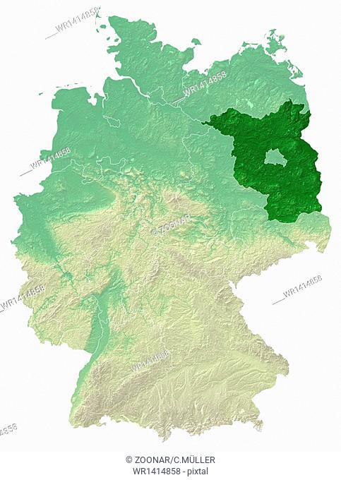 relief map brandenburg