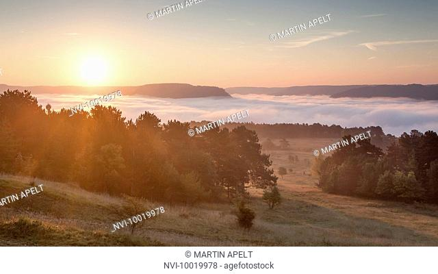 Windknollen , with Napoleonstein, Saale valley, Jena, Thuringia with Germany
