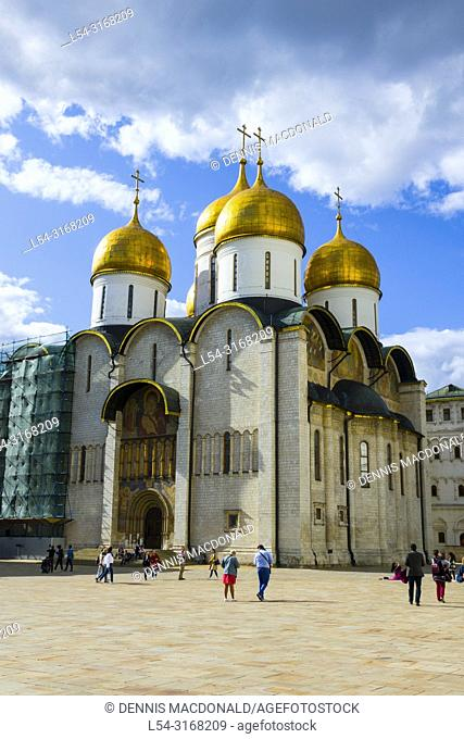 Cathedral of the Dormition in The Kremlin Moscow Russian Moskva city National capital of Russia. The Moscow Kremlin (Russian: МоÑ. ковÑ