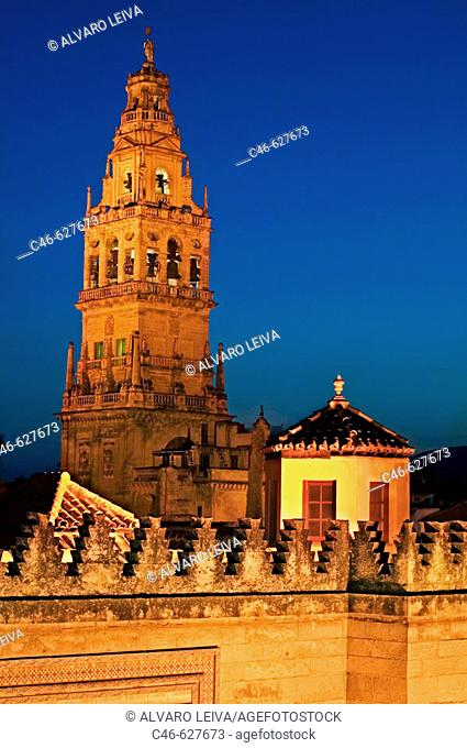 Minaret tower of the Great Mosque, Córdoba. Andalusia, Spain
