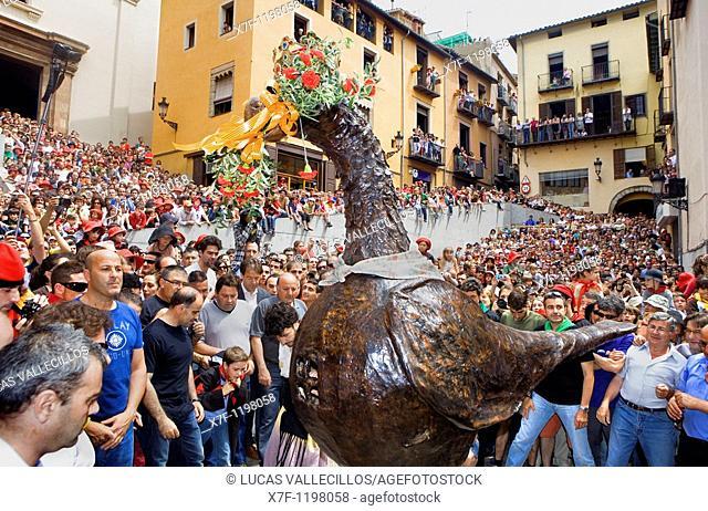 Eagle dancing `Patum de Lluiment' Patum de lucimiento-showcasing Patum Plaça de Sant Pere  La Patum Masterpiece of Oral and Intangible Heritage by UNESCO Berga...