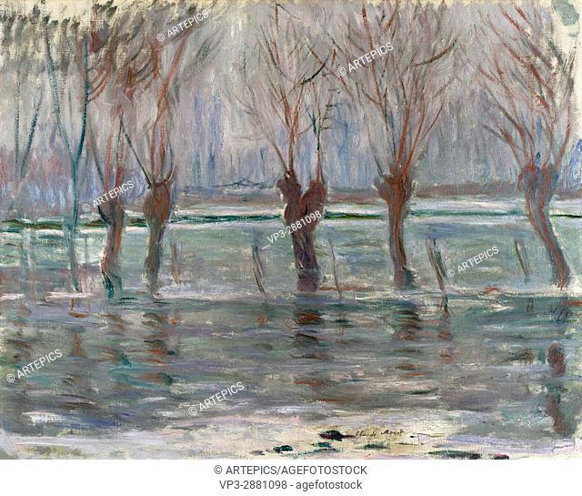 Claude Monet. Flood waters . 1896. National Gallery London