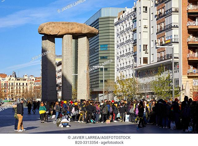 Dolmen by Dalí, Salvador Dalí Square, Madrid, Spain, Europe