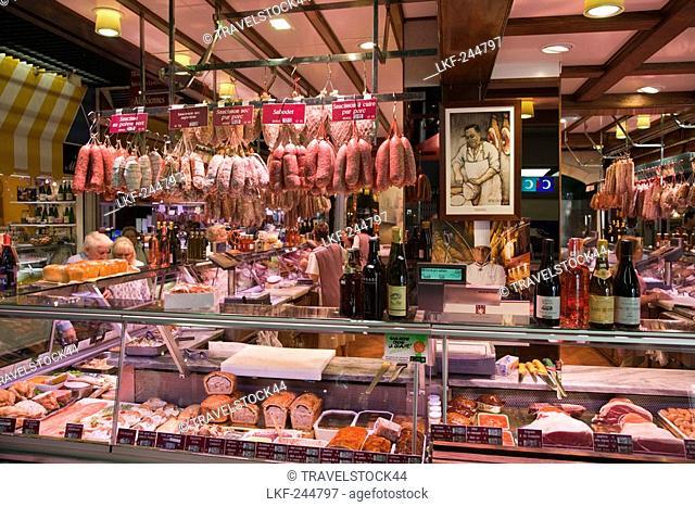Les Halles de Lyon Paul Bocuse, Gourmet market, Lyon, Rhone Alps, France