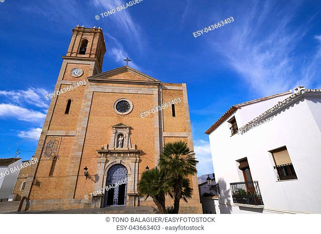 Altea church Consuelo in Mediterranean village of Alicante Spain