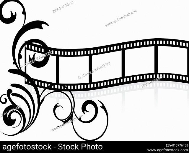 floral filmstripe