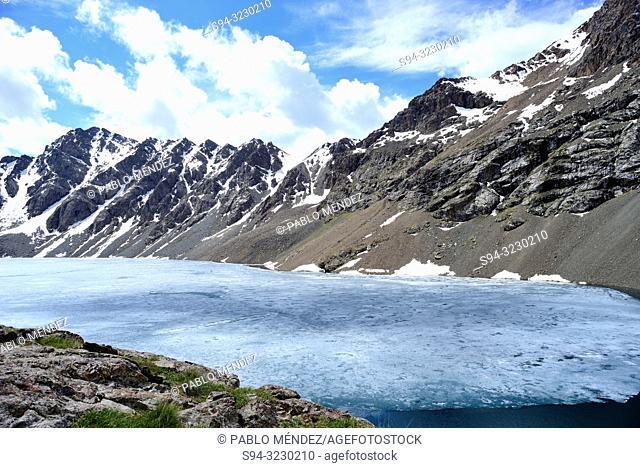 "Ala Kol lake """"3500 masl"""" in Tien Shan mountains, Kyrgyzstan"