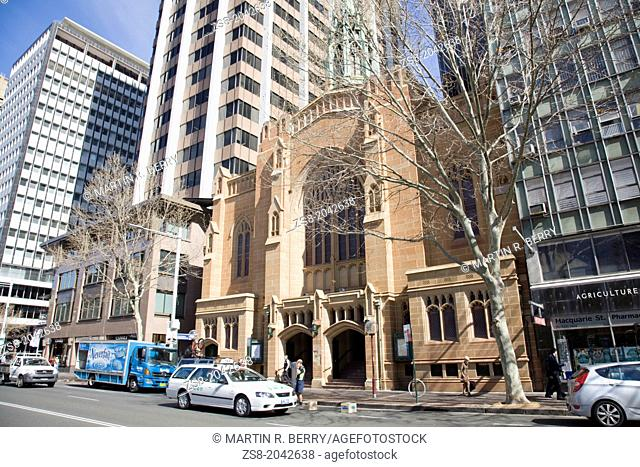 saint stephens uniting church in macquarie street,sydeny city centre,australia