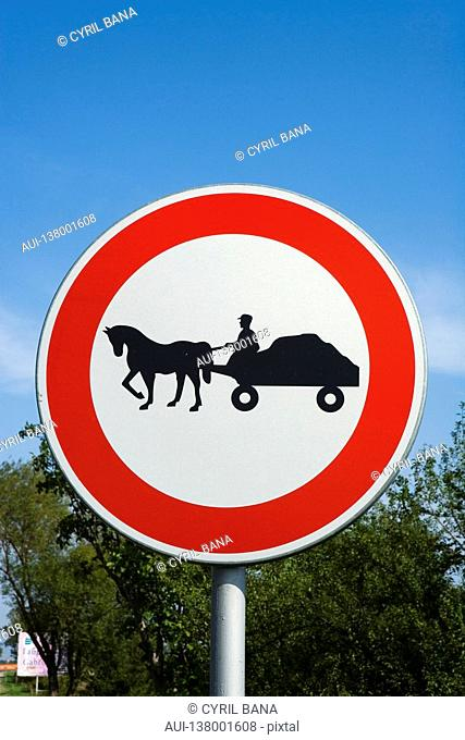 Bulgaria - North-West Region - Rhodope Mountains - Traffic sign