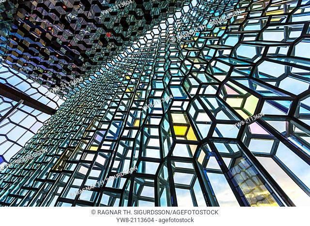Harpa Concert Hall and Conference Centre. Harpa Concert Hall and Conference Centre has four halls, the largest one accommodating up to 1,800 seated patrons