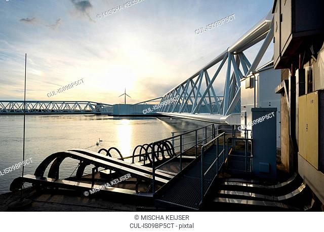 Maeslantkering storm surge barrier, Port of Rotterdam, Hoek van Holland, Zuid-Holland, Netherlands