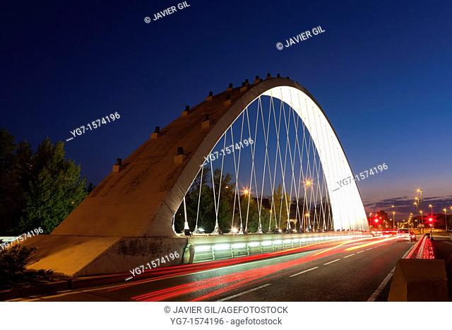 Bridge of the Oblatas, Pamplona, Navarra, Spain