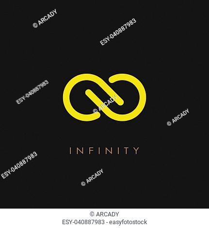 Minimalistic infinity vector logo illustration