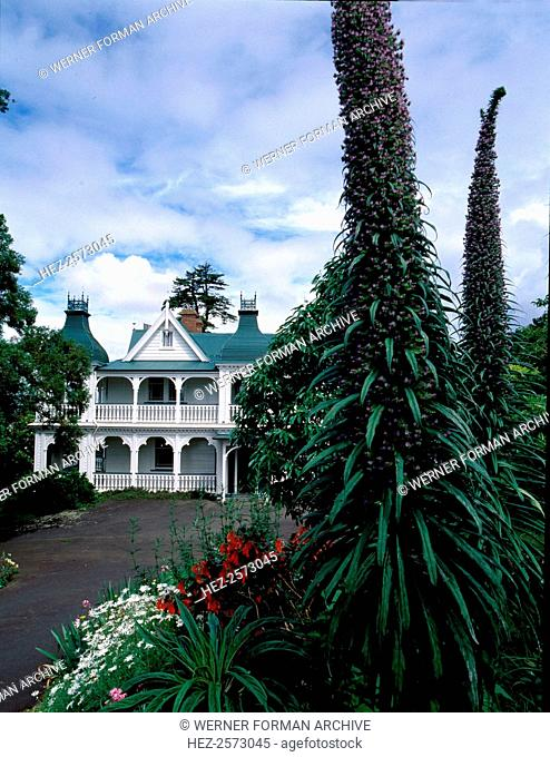 Alberton on the eastern slope of Mount Albert near Auckland. Architect Matthew Henderson. It is now kept as a museum with period decorations and furnishings