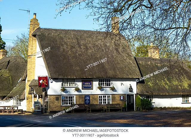 Axe & Compass public house, Hemingford Abbots, Cambridgeshire, UK