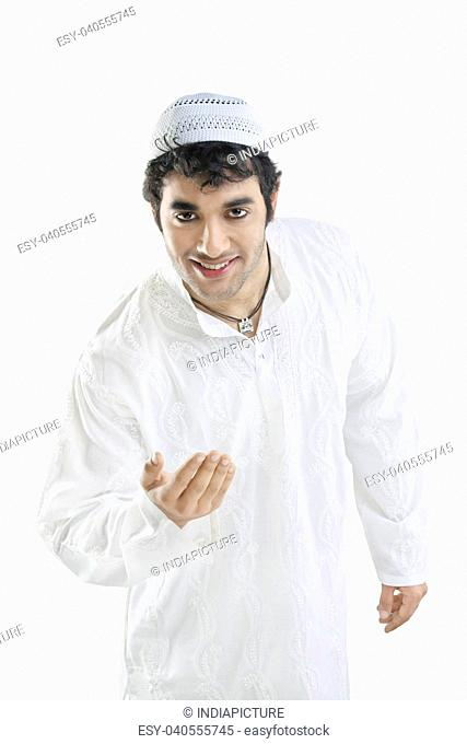 Muslim man greeting