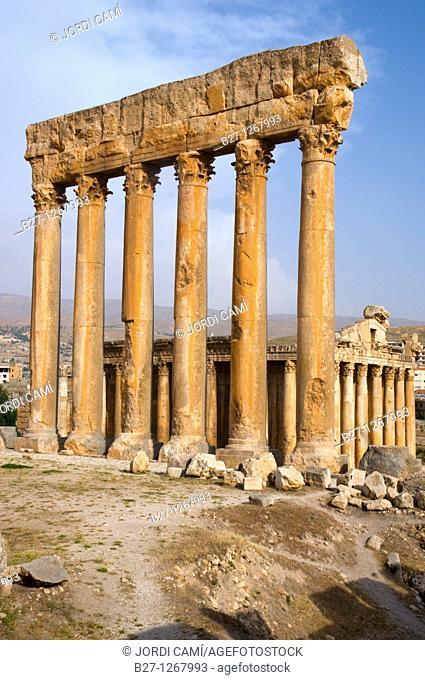 Temple of Jupiter , Baalbek,UNESCO World Heritage Site  Bekaa valley  Lebanon