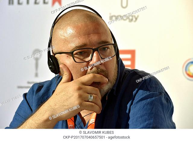 Actor Witold Wielinski presents Polish film Birds Are Singing in Kigali during the 52nd International Film Festival in Karlovy Vary, Czech Republic, on July 4