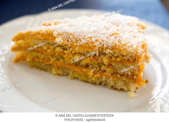 carrot tart portion