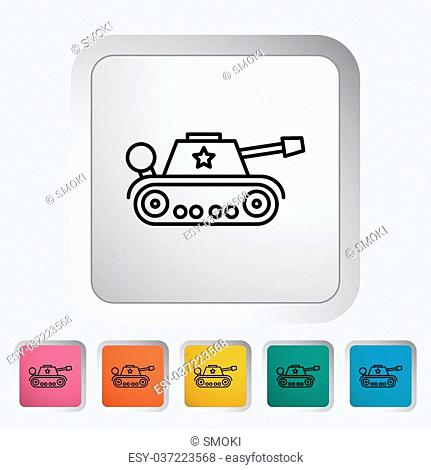 Tank icon. Thin line flat vector related icon for web and mobile applications. It can be used as - logo, pictogram, icon, infographic element
