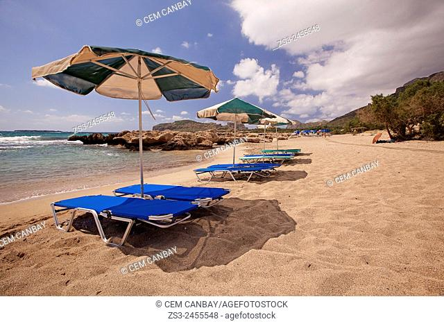Scene from the Falasarna beach, Chania Region, Crete, Greek Islands, Greece, Europe