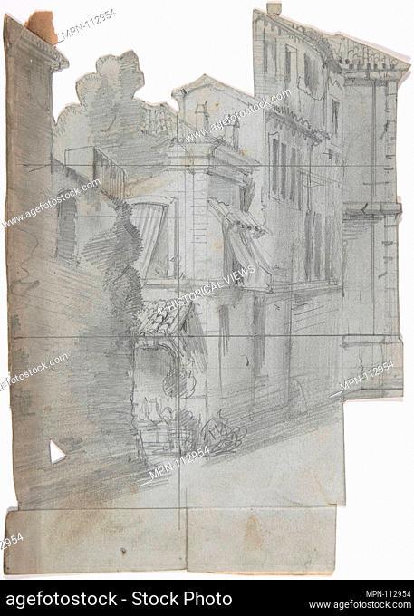 Design for a Stage Set at the Opéra, Paris. Artist: Eugène Cicéri (French, Paris 1813-1890 Fontainebleau); Date: 1830-90; Medium: Graphite; Dimensions:...