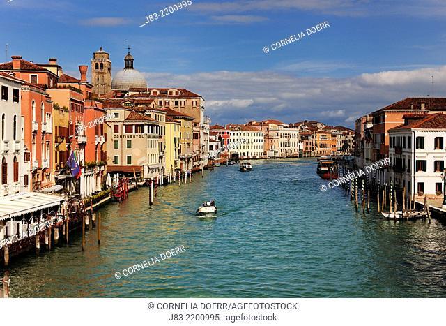 Palaces along the grand canal, Venice, Venezia, Province Veneto, Venetien, Veneto, Italy, Europe