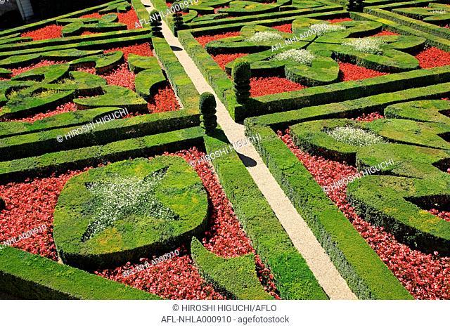 France, Loire Valley, Villandry, Chateau de Villangry, UNESCO World Heritage