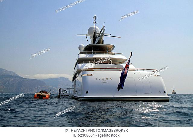 Ilona, a cruiser built by Amels Holland, length: 73.69 meters, built in 2004, Cap Ferrat, French Riviera, France, Europe