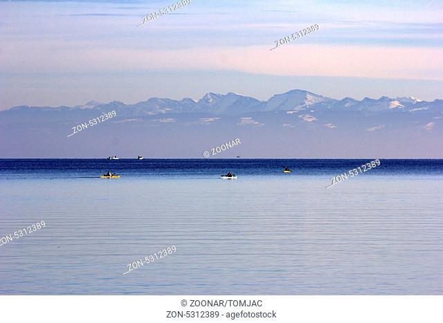Bodensee Blick auf Alpen
