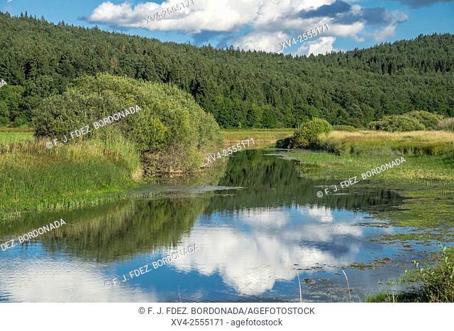 Cerknica lake spring. Slovenia