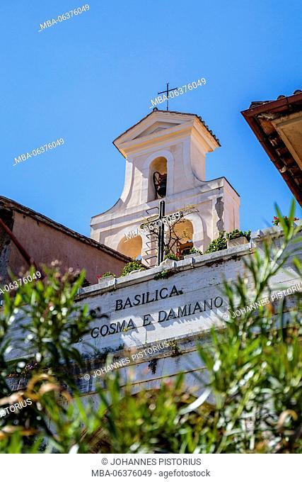 Europe, Italy, Latium, Rome, Basilica Santi Cosma e Damiano in the forum Romanum