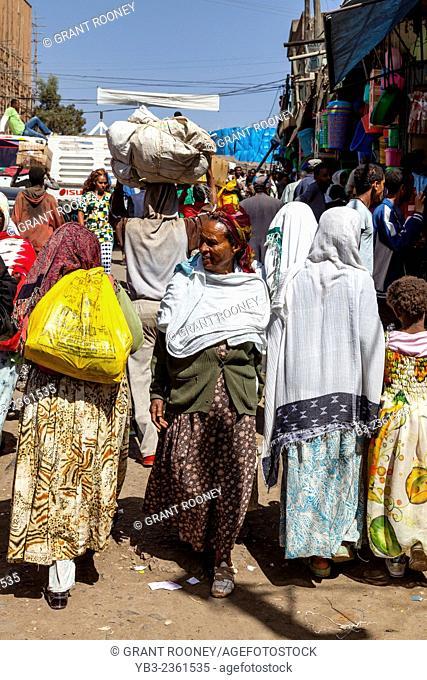 People Shopping In The Merkato, Addis Ababa, Ethiopia