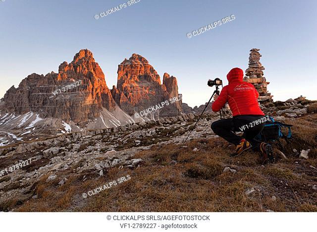 Tre Cime di Lavaredo/Drei Zinnen, Dolomites, Auronzo, Belluno, Italy