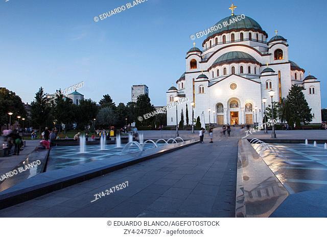 Sant Sava Orthodox church. Belgrad, Serbia
