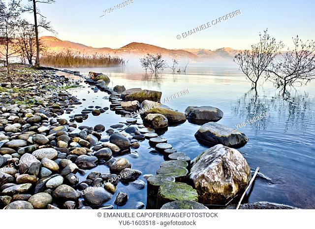 lake maagiore,Ranco,lombardy,italy