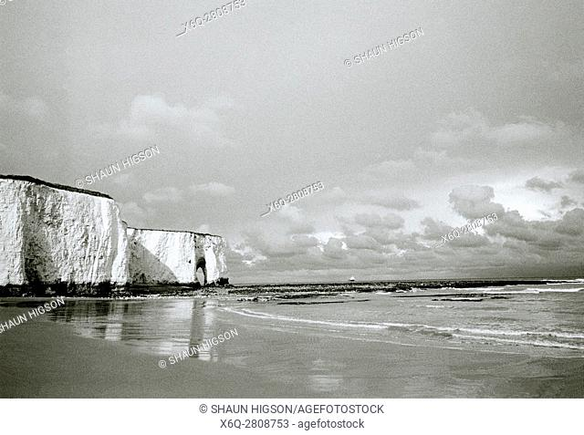 Kingsgate Bay in Broadstairs in Thanet in Kent in England in Great Britain in the United Kingdom UK Europe