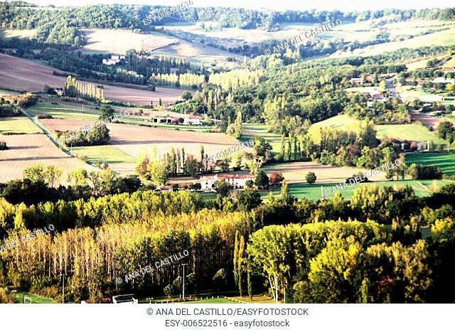 Panorama from Cordes sur Ciel village France