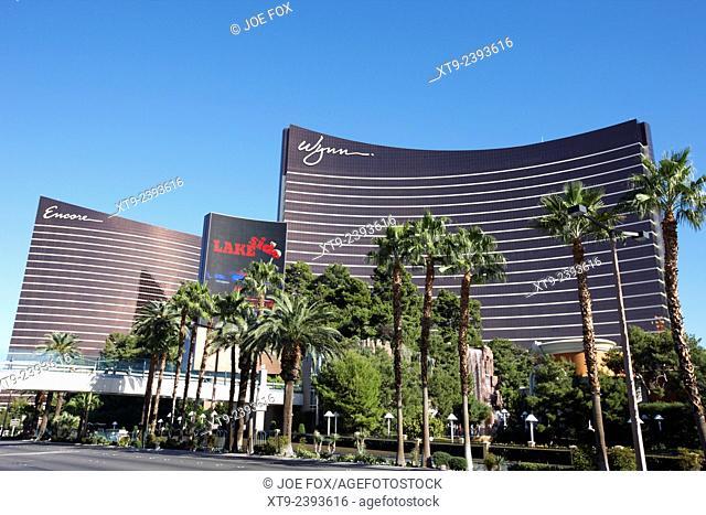 the wynn and encore resort and casinos Las Vegas Nevada USA