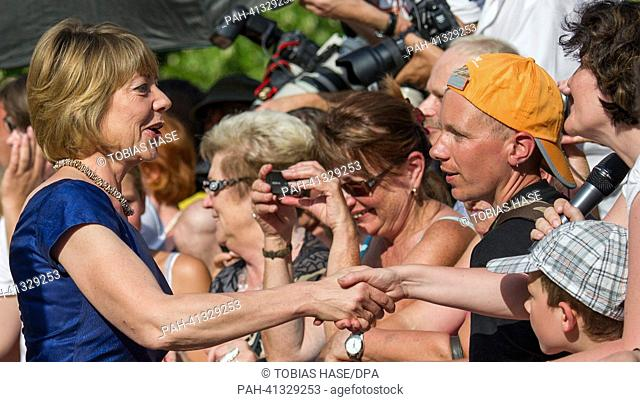 Daniela Schadt, wife of German president Gauck, arrives at the opening of the Bayreuth Festival 2013 in Bayreuth, Germany, 25 July 2013